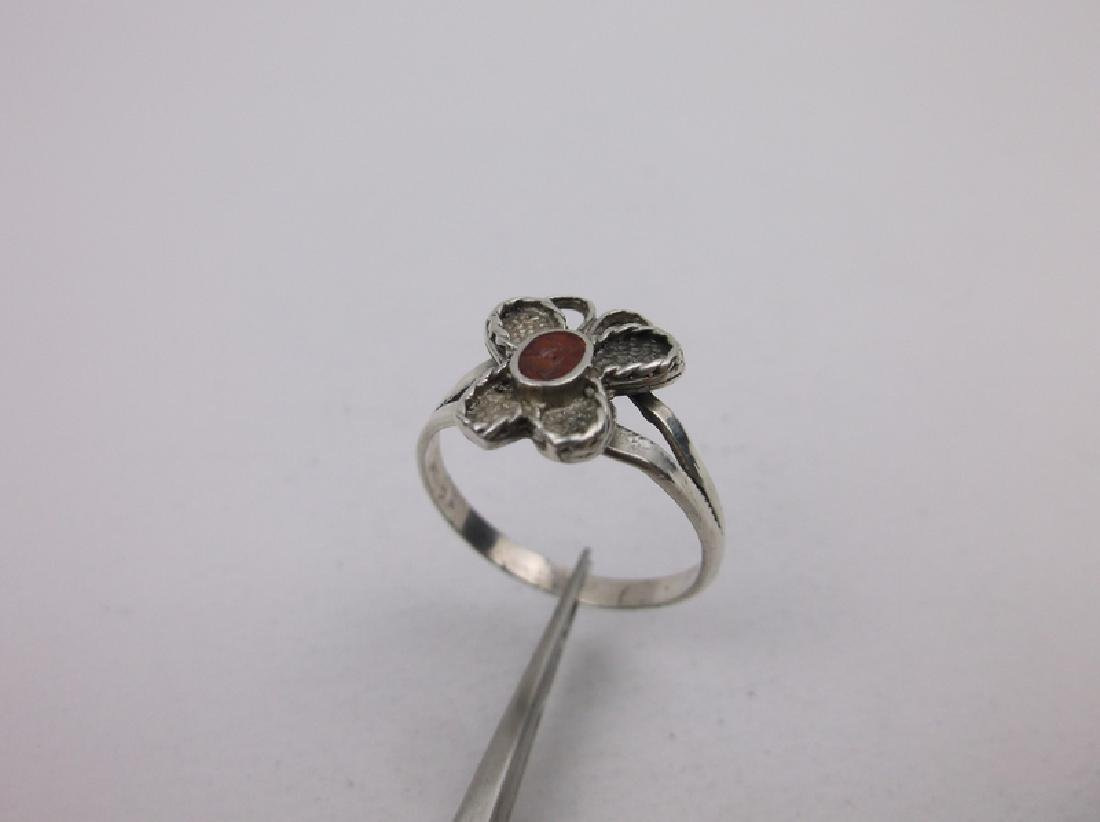 Gorgeous Navajo Sterling Red Coral Ring 5.5