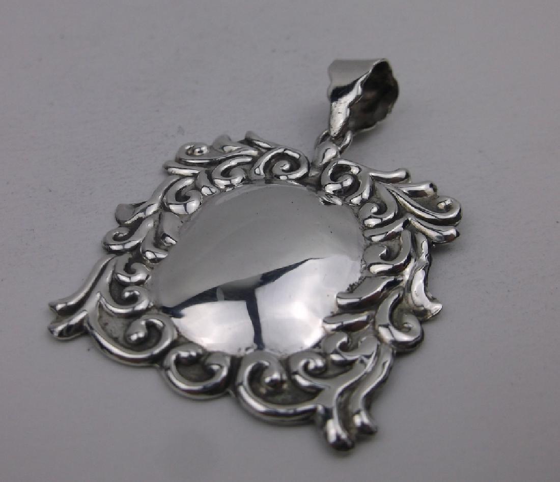 Stunning Sterling Silver Ornate Pendant