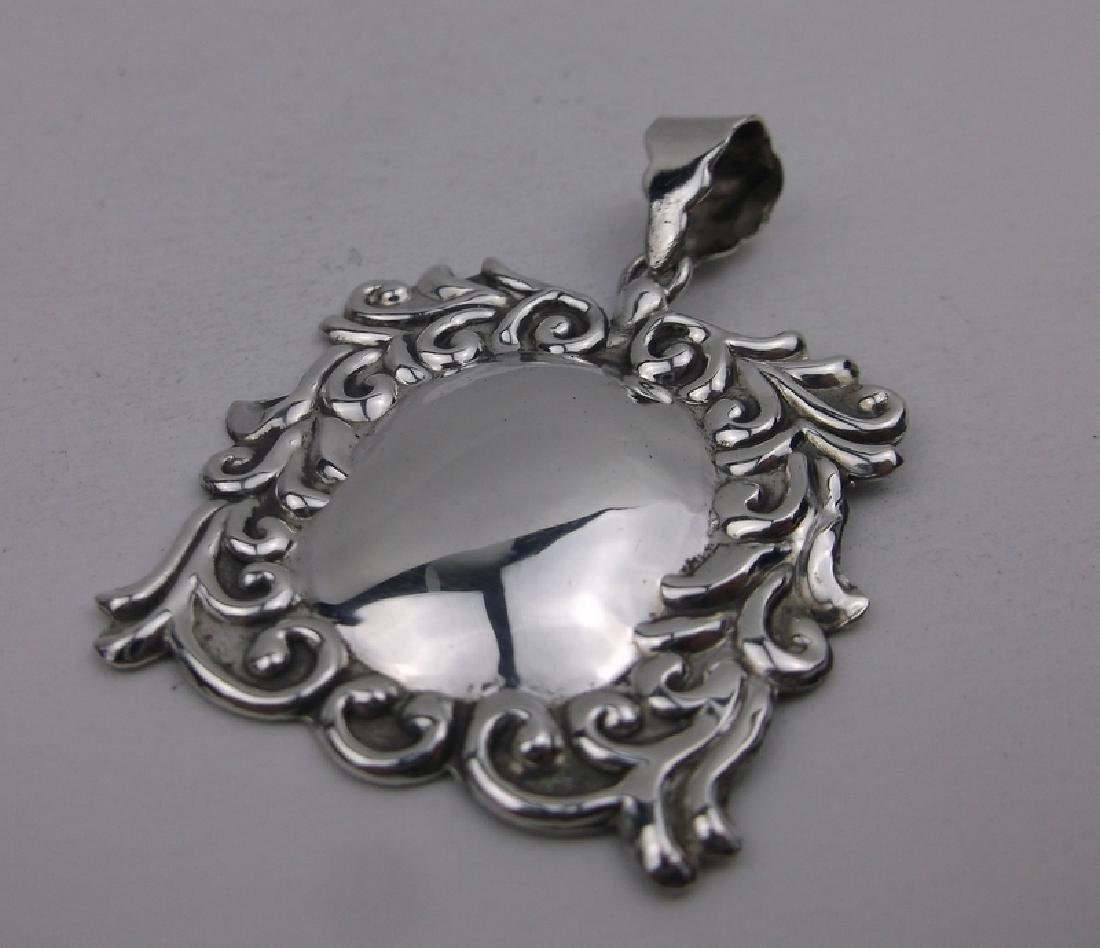 Stunning Sterling Silver Ornate Pendant