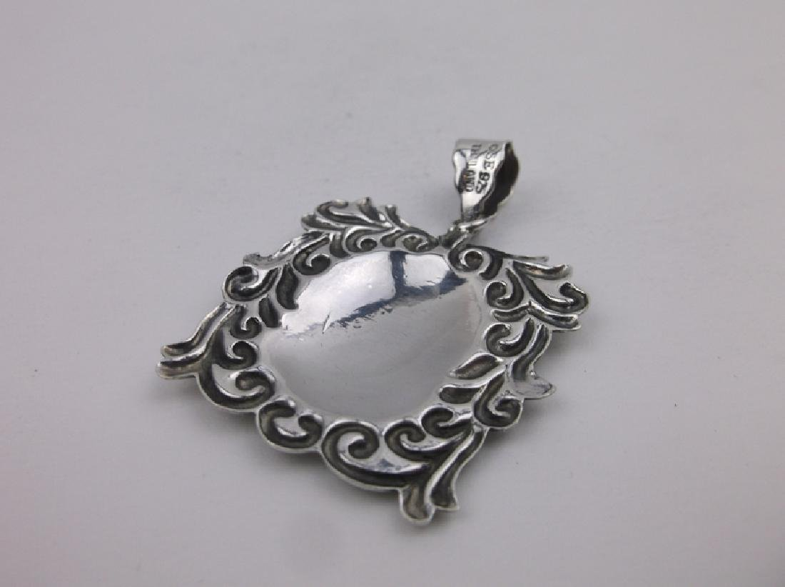 Stunning Sterling Silver Ornate Pendant - 2