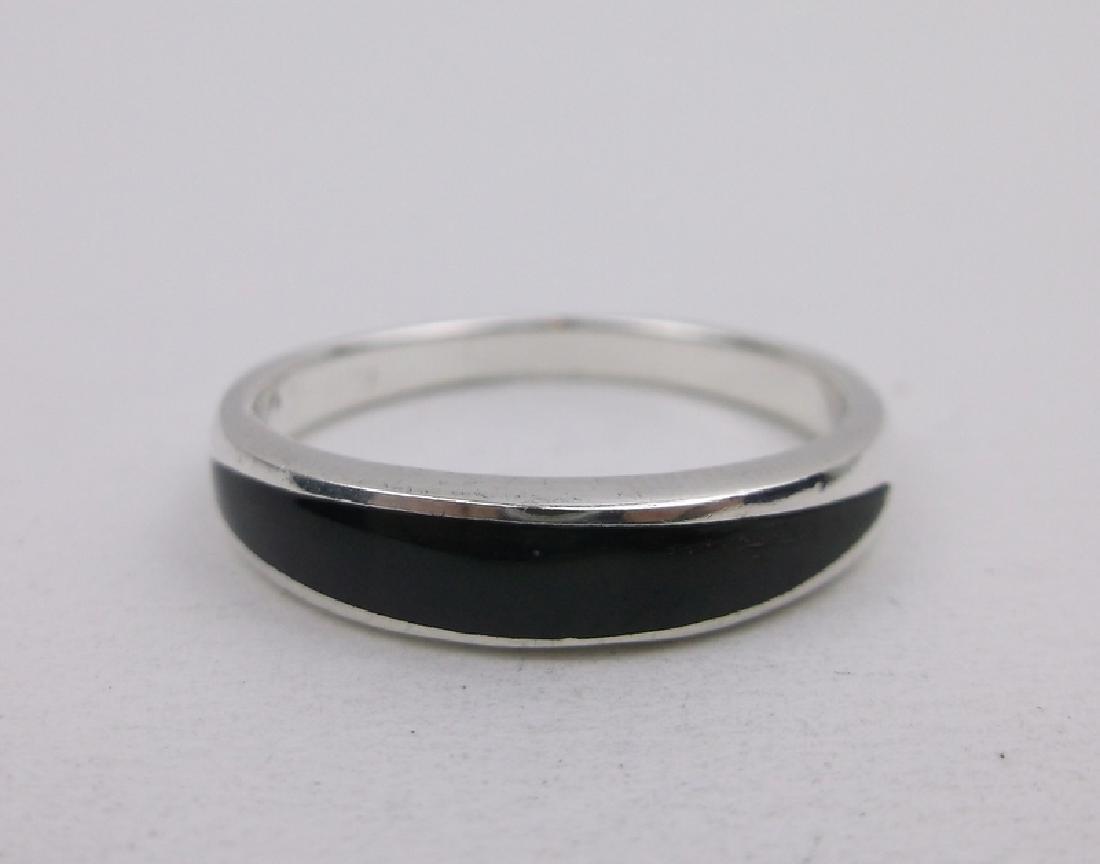 Stunning Sterling Silver Onyx Ring 8