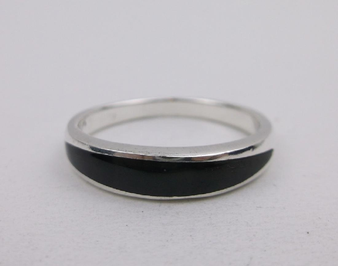 Stunning Sterling Silver Onyx Ring 8