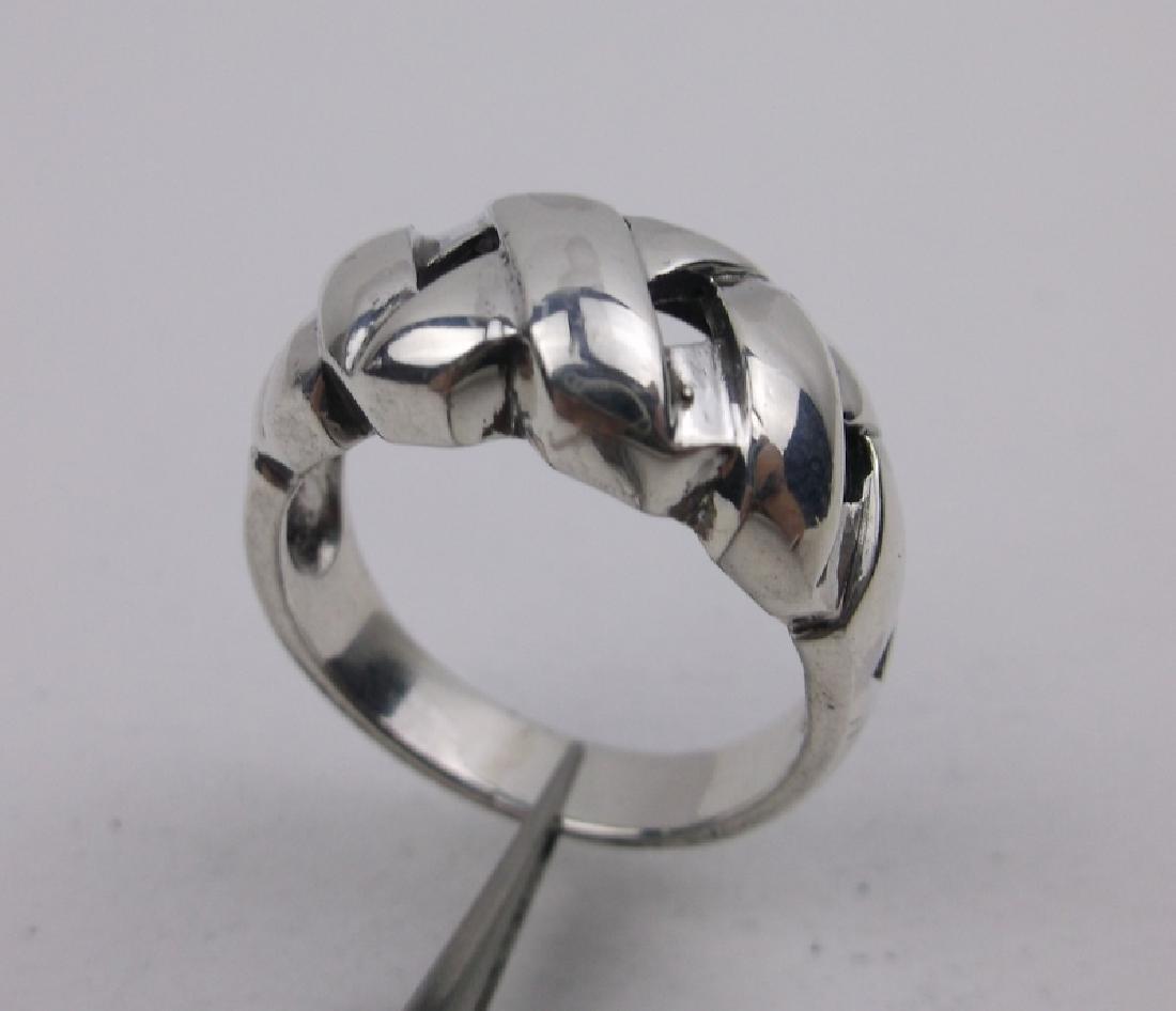 Stunning Sterling Silver Designer Ring 7.5
