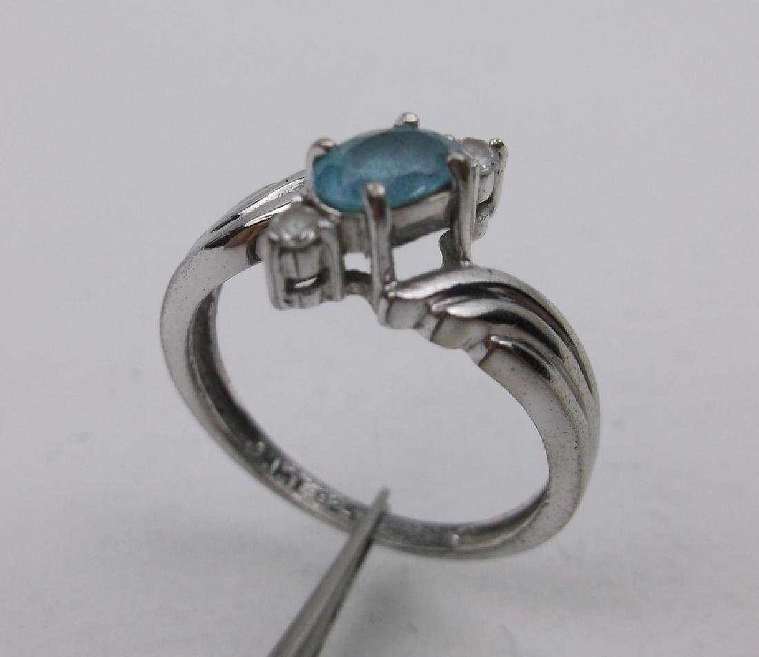 Gorgeous Sterling Silver Aquamarine Ring 7