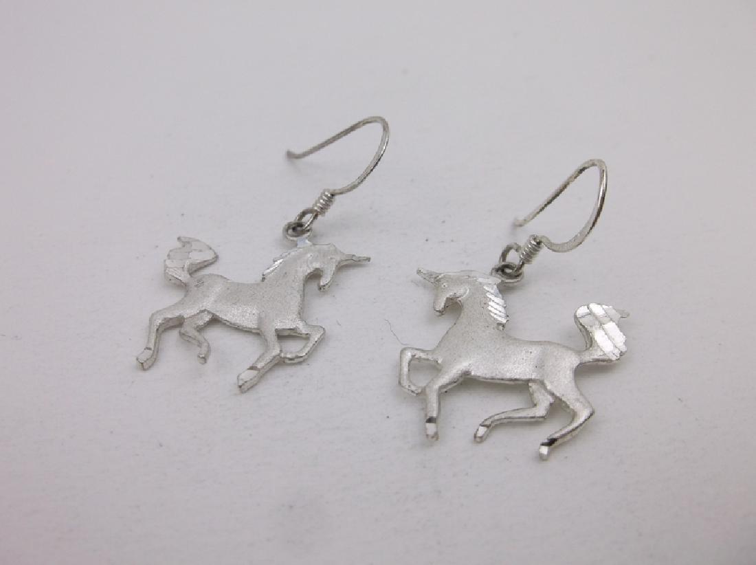 Stunning Sterling Silver Unicorn Earrings