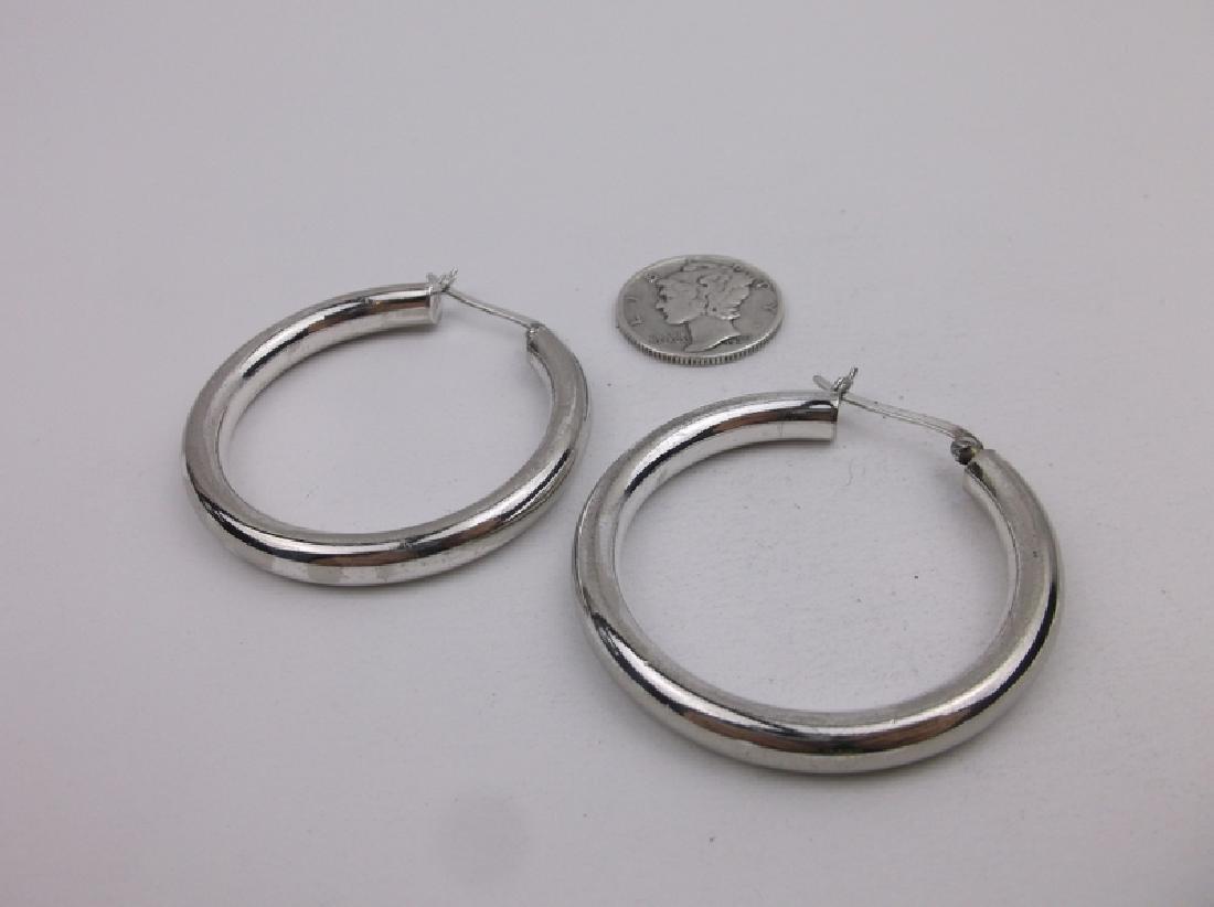 Gorgeous Large Sterling Silver Hoop Earrings
