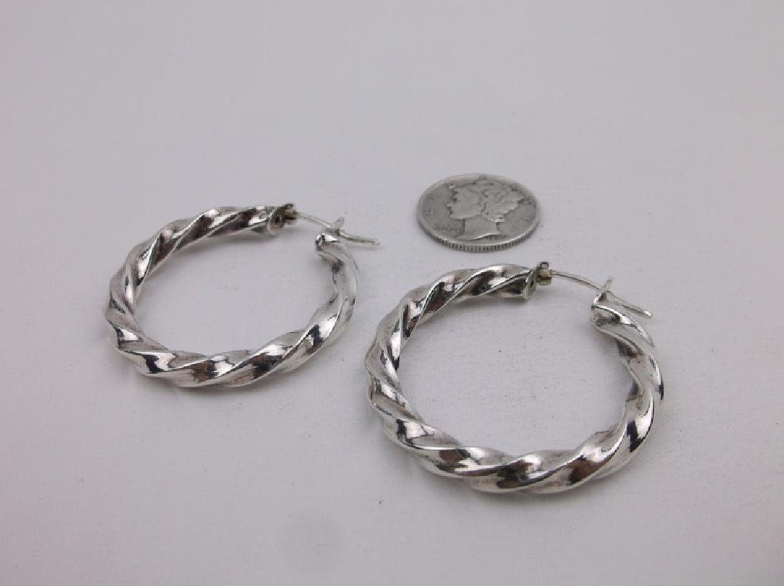 Gorgeous Sterling Silver Hoop Earrings