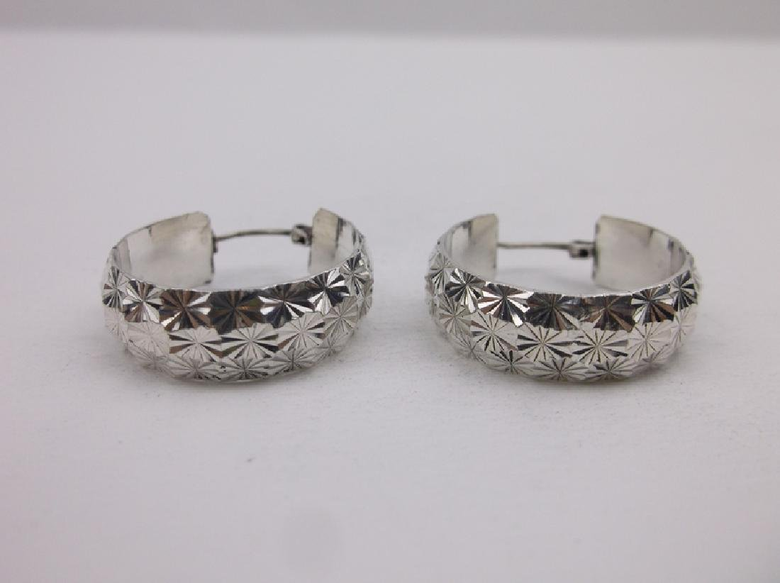 Gorgeous Heavy Sterling Silver Hoop Earrings