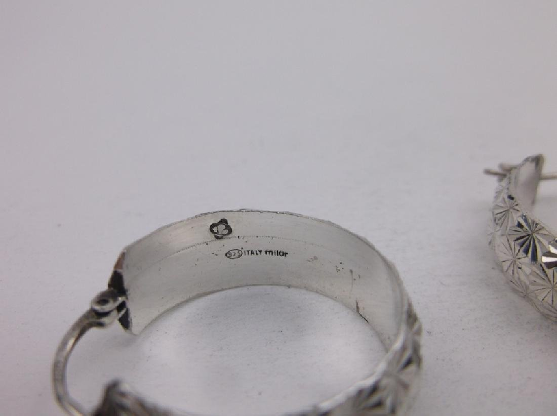 Gorgeous Heavy Sterling Silver Hoop Earrings - 2