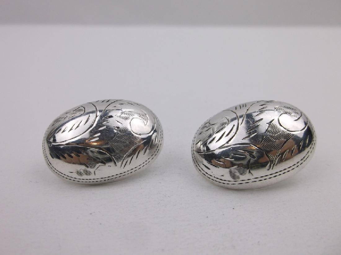 Stunning Large Sterling Silver Dome Earrings