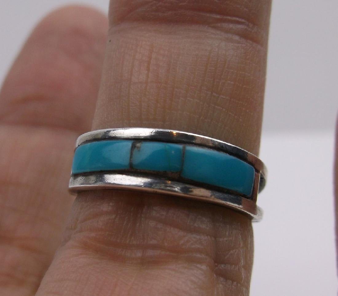 Gorgeous Navajo Sterling Turquoise Ring 6.5
