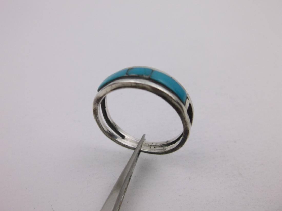 Gorgeous Navajo Sterling Turquoise Ring 6.5 - 2