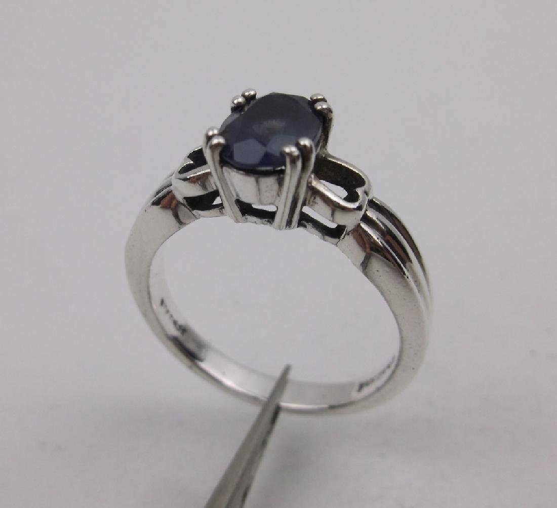 Stunn Sterling Silver Lavender Stone Ring 8