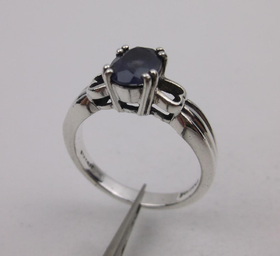 Stunn Sterling Silver Lavender Stone Ring 8