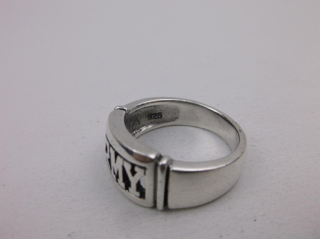Gorgeous Sterling Silver US Army Ring 8.5 - 2