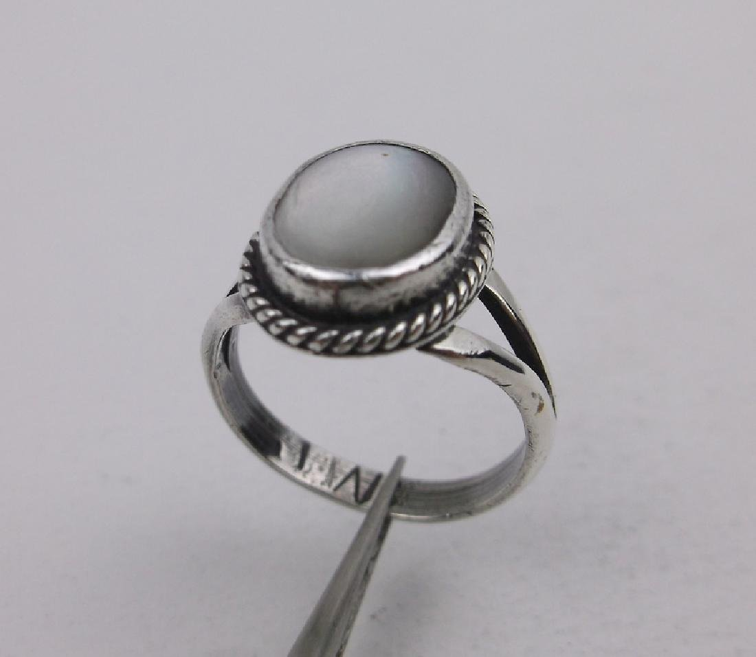 Navajo Sterling MOP Childs Ring 3.5 JW Gorgeous