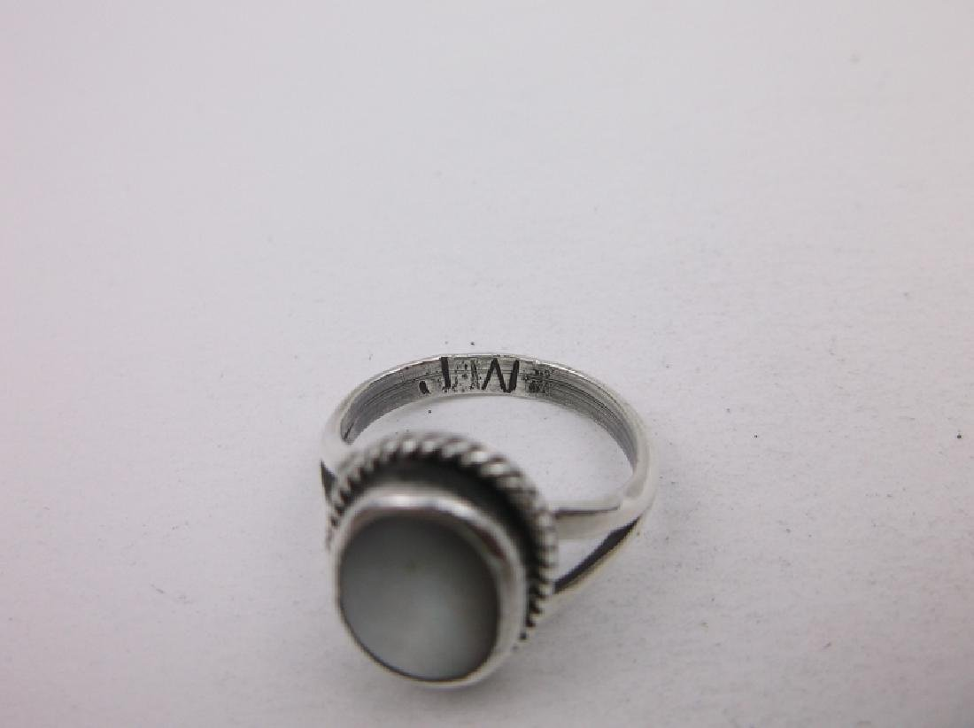 Navajo Sterling MOP Childs Ring 3.5 JW Gorgeous - 2
