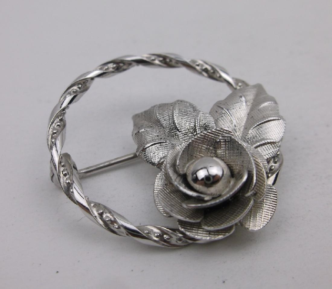Gorg Vint DCE Sterling Silver Rose Brooch