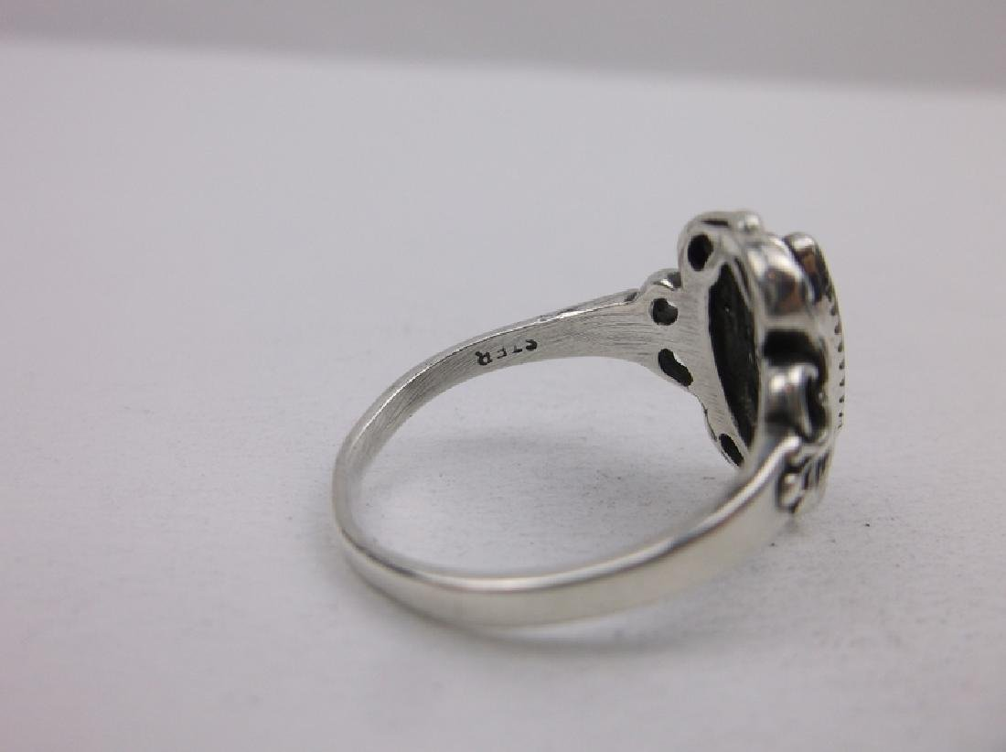 Gorgeous Vint Sterling Silver MOP Ring 8.5 - 3