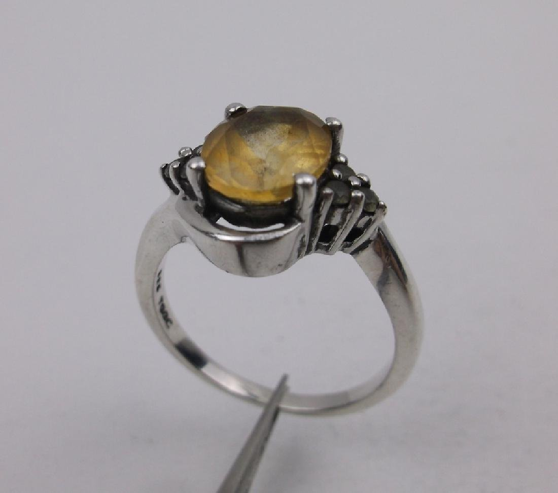 Gorgeous Sterling Silver Citrine Ring 8