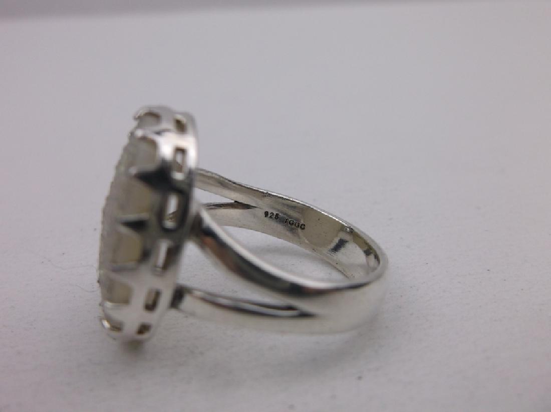 Stunning Sterling Silver Druzy Ring 7 - 2