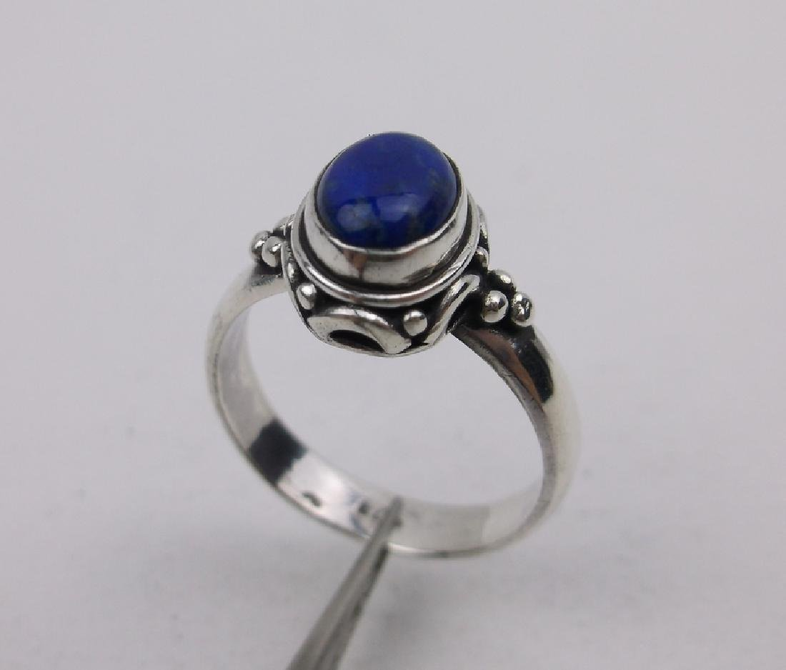 Stunning Sterling Silver Lapis Ring 6.5