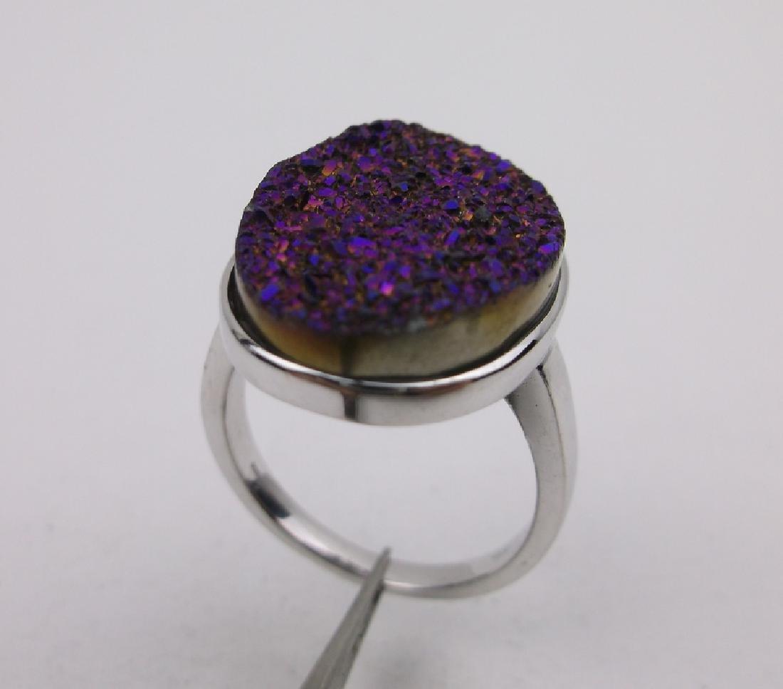 Stunning Sterling Silver Druzy Ring 7
