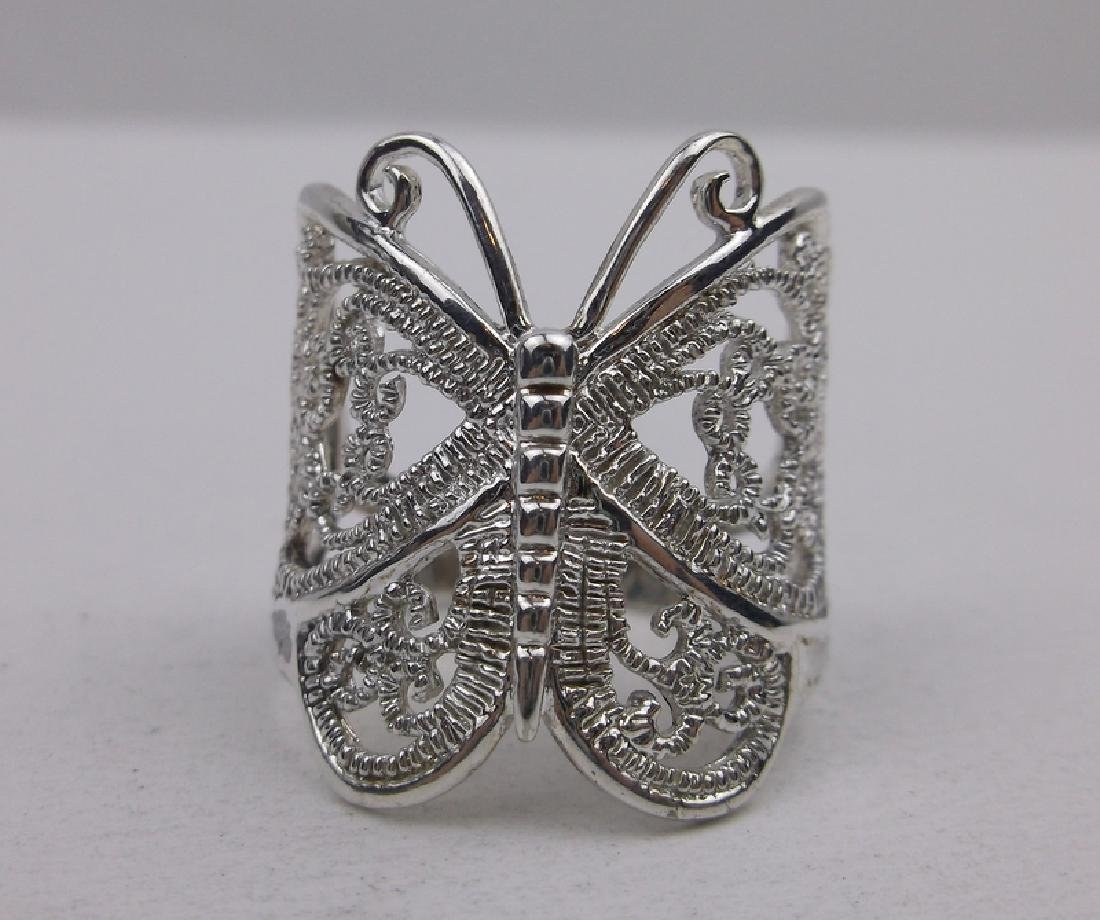 Stunning Sterling Silver Butterfly Ring 8