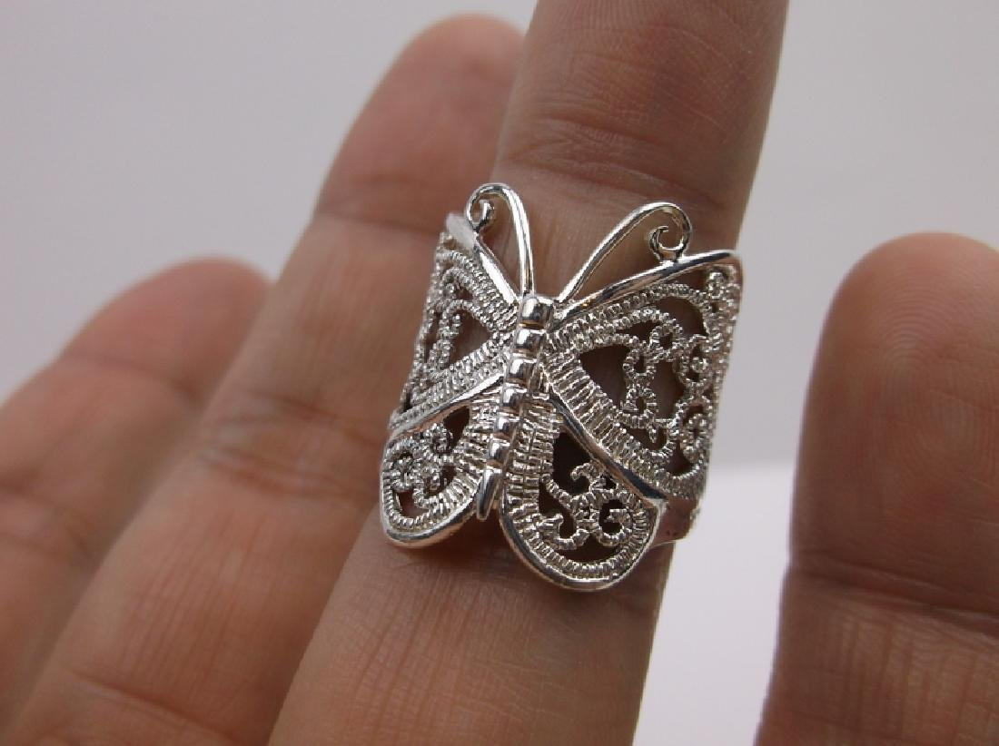 Stunning Sterling Silver Butterfly Ring 8 - 2