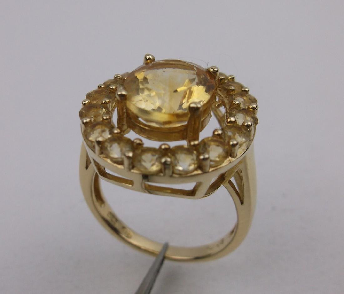 Stunning Gold Over Sterling Cocktail Ring 7