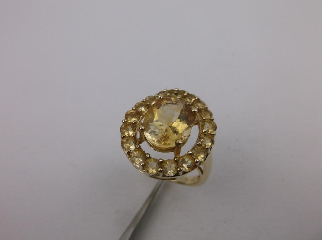 Stunning Gold Over Sterling Cocktail Ring 7 - 2