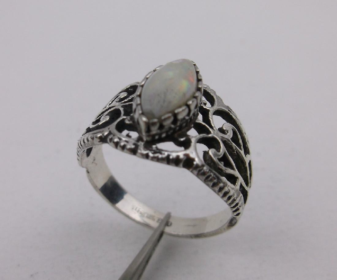 Vint Espo Sterling Silver Opal Ring 7 Gorgeous