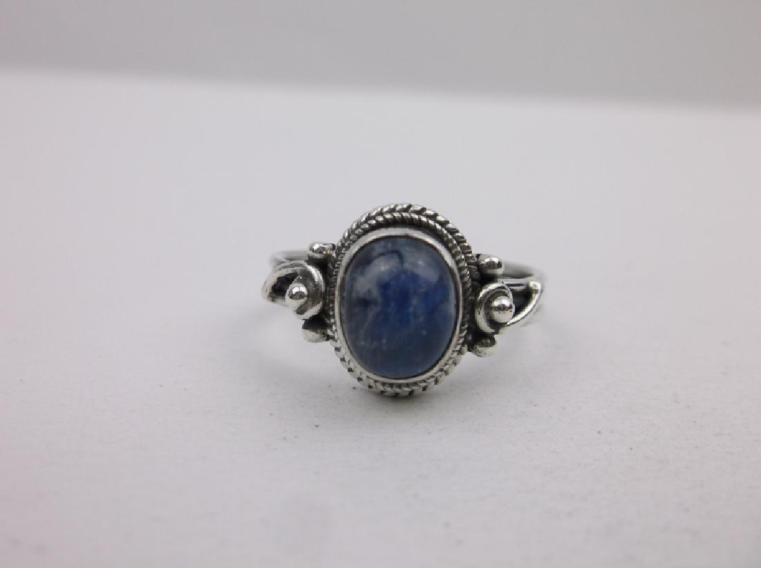 Stunning Sterling Silver Labradorite Ring 8 - 2