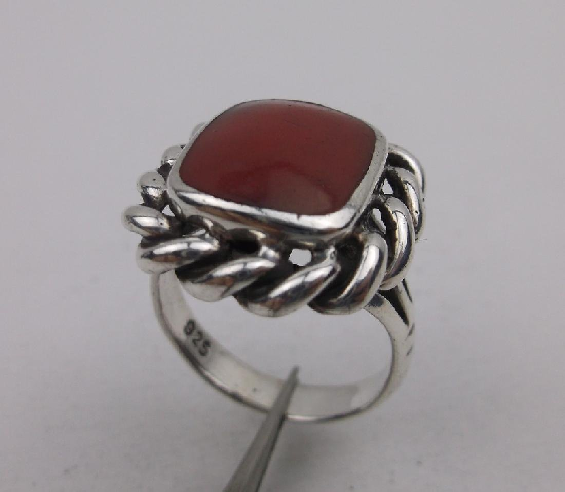 Gorgeous Sterling Silver Red Jasper Ring 6