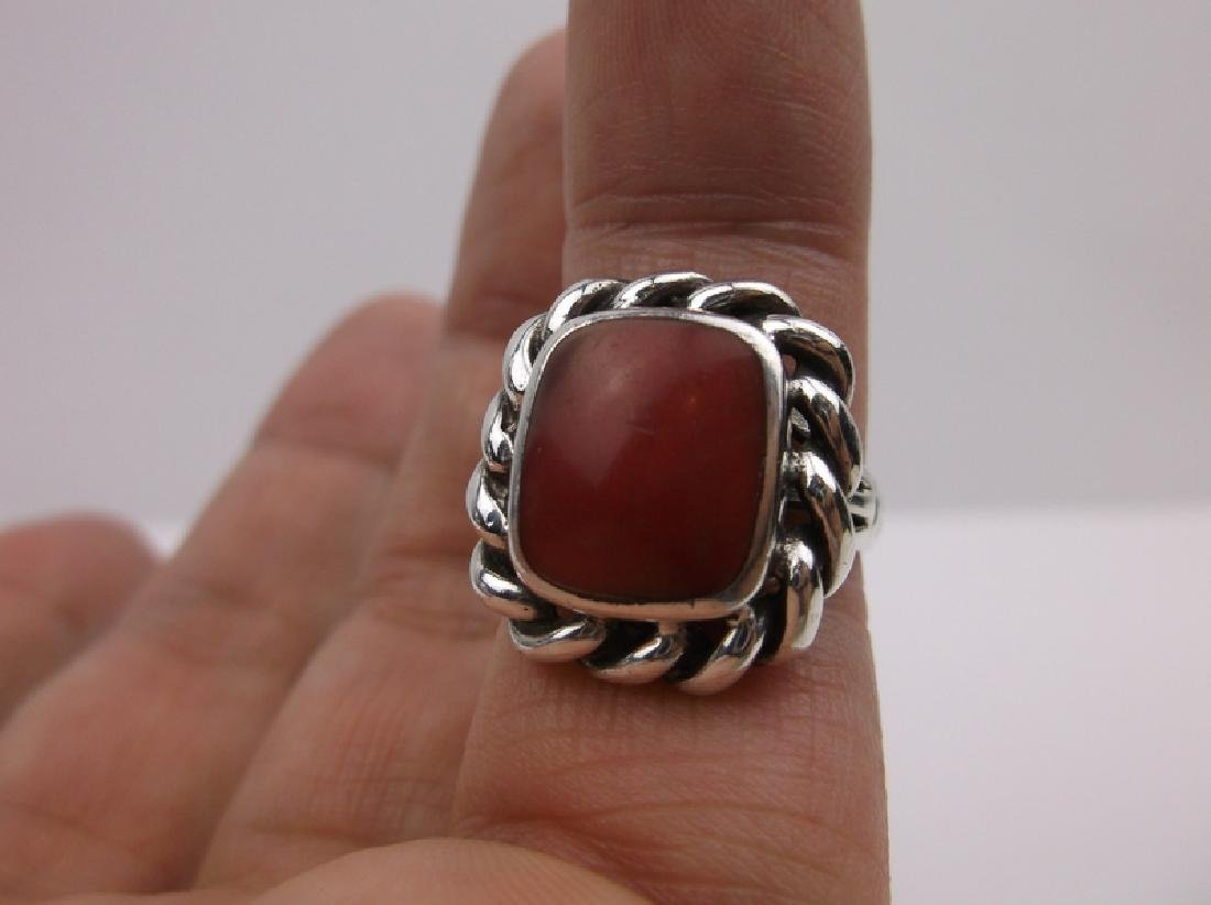 Gorgeous Sterling Silver Red Jasper Ring 6 - 2