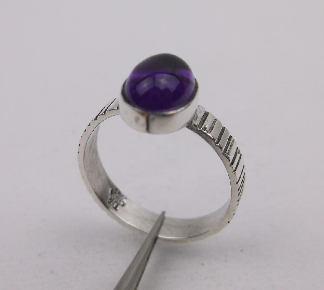 DTR Sterling Silver Amethyst Ring 7.25 Gorgeous