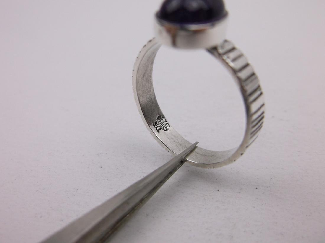 DTR Sterling Silver Amethyst Ring 7.25 Gorgeous - 2