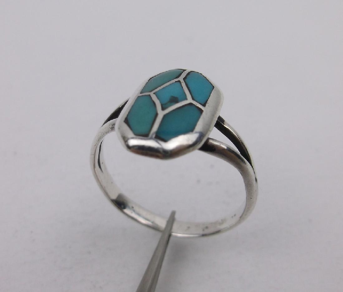 Stunning Navajo Sterling Turquoise Ring 6.25