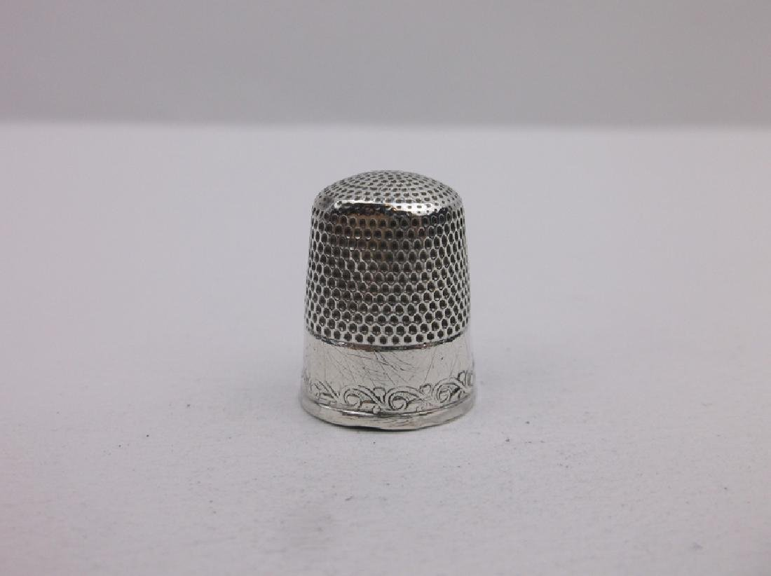 Gorg Antique Sterling Silver Sewing Thimble