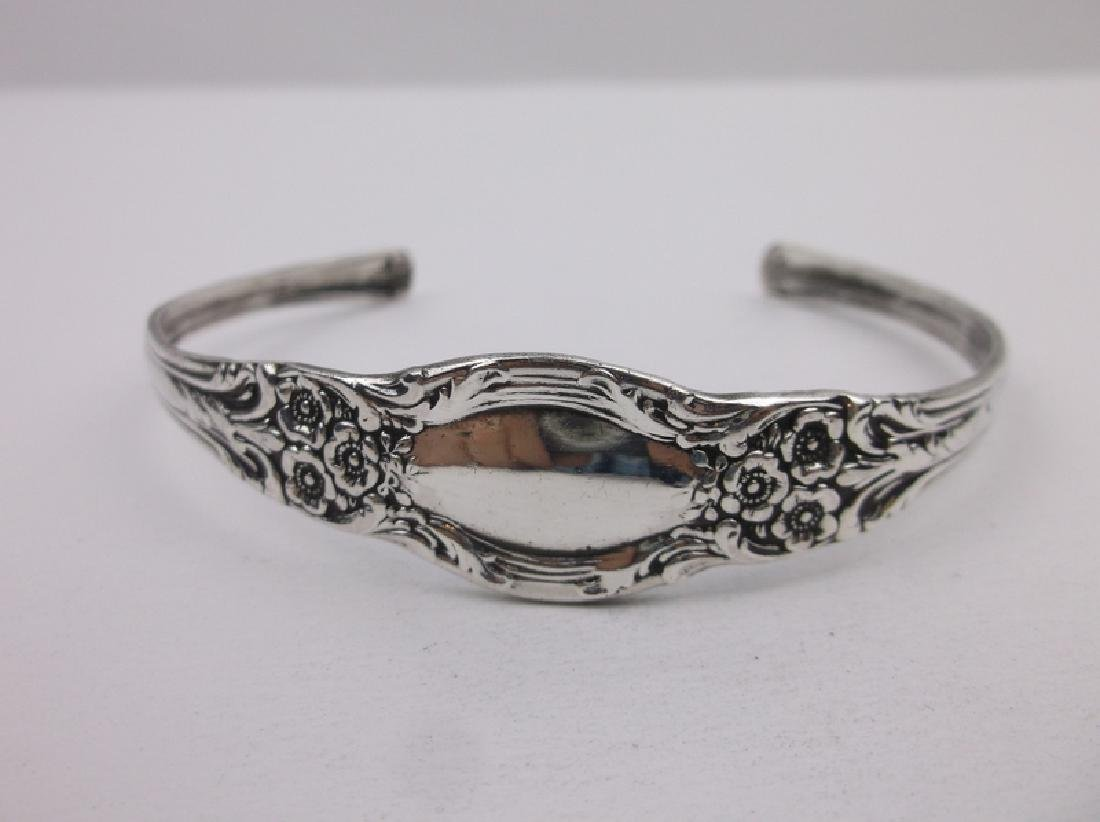Stunning Large Sterling Silver Cuff Bracelet Ornate