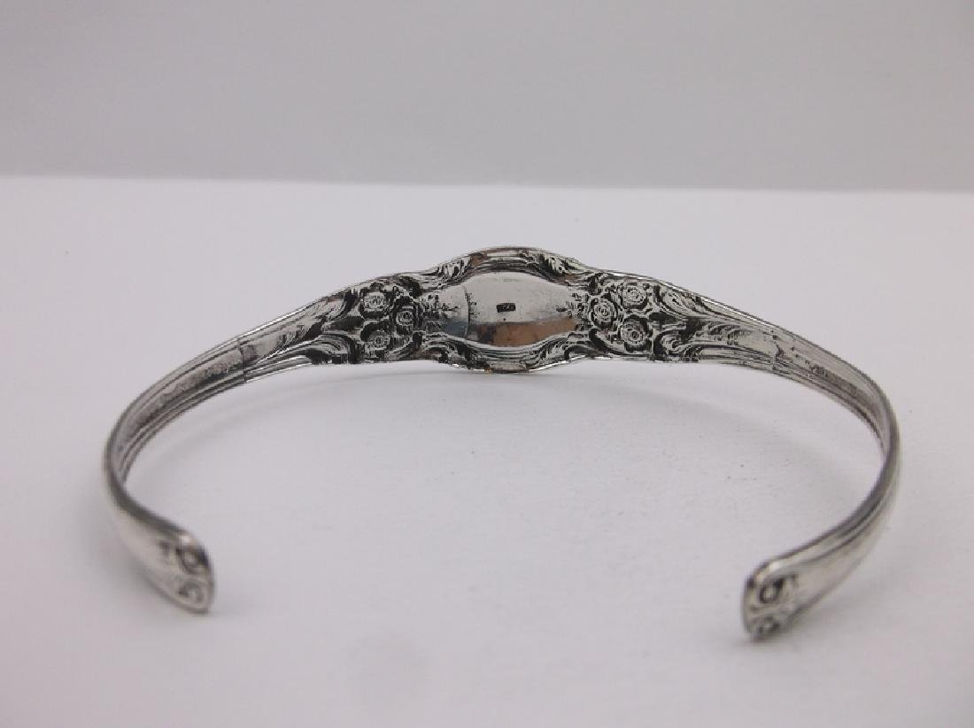 Stunning Large Sterling Silver Cuff Bracelet Ornate - 3