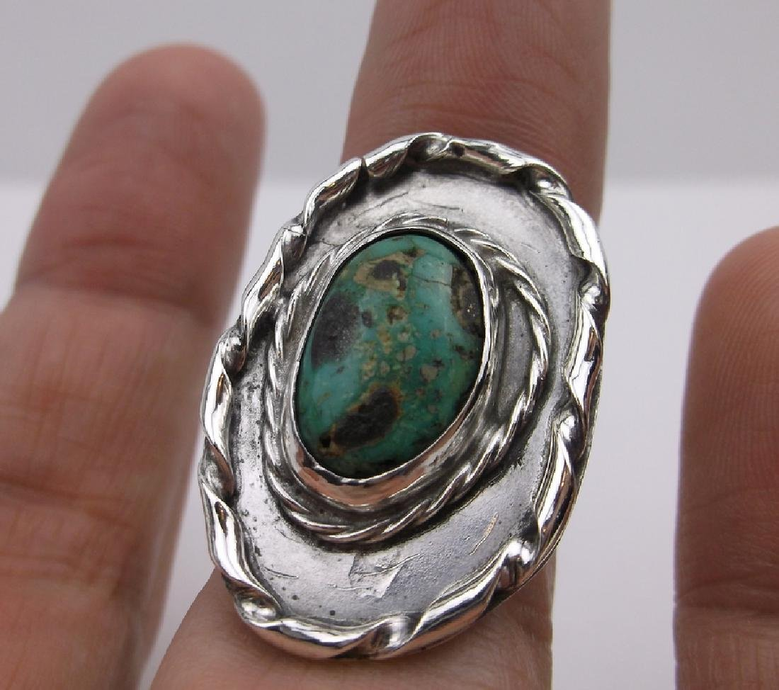 Vint Navajo Sterling Turquoise Ring 6 Gorgeous