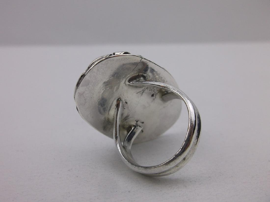 Vint Navajo Sterling Turquoise Ring 6 Gorgeous - 2