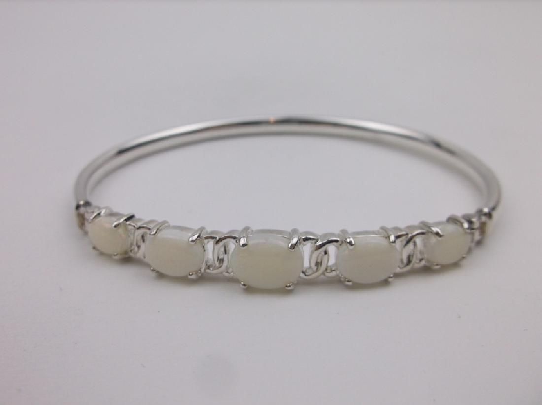 Stunning Sterling Silver Opal Bracelet