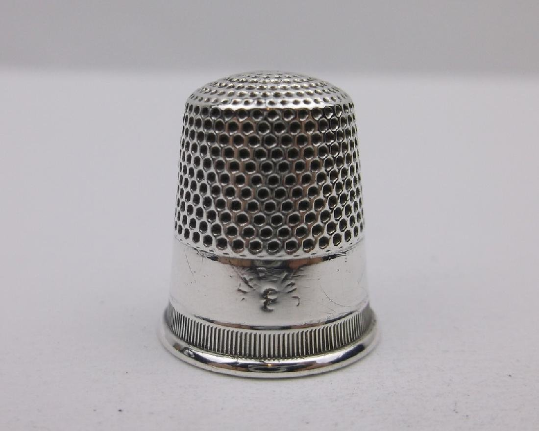 Antique Sterling Silver Sewing Thimble Gorgeous