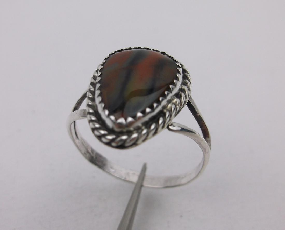 Navajo Sterling Jasper Ring 8.5 Begay Gorgeous