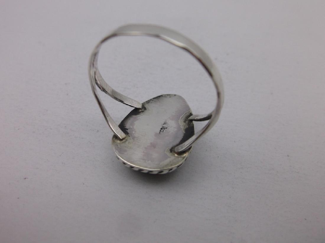 Navajo Sterling Jasper Ring 8.5 Begay Gorgeous - 2