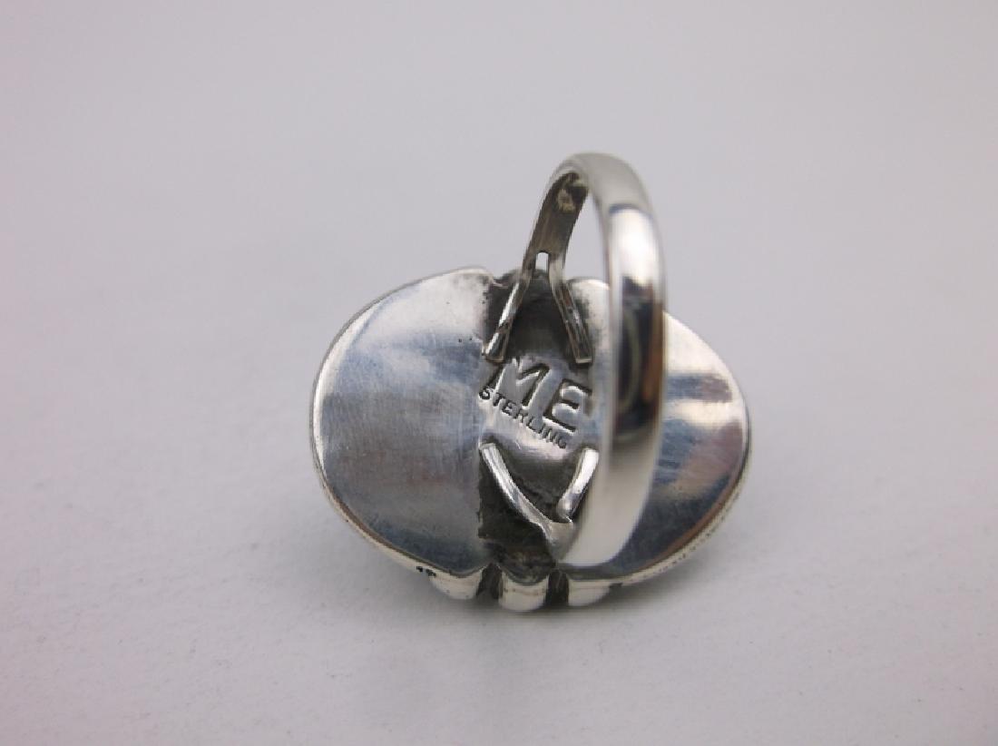 Navajo Sterling Turquoise Ring 5.5 ME Stunning - 2