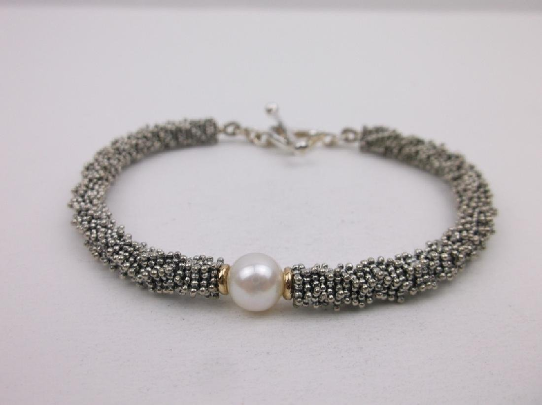 Michael Dawkins 14kt Gold Sterling Pearl Bracelet