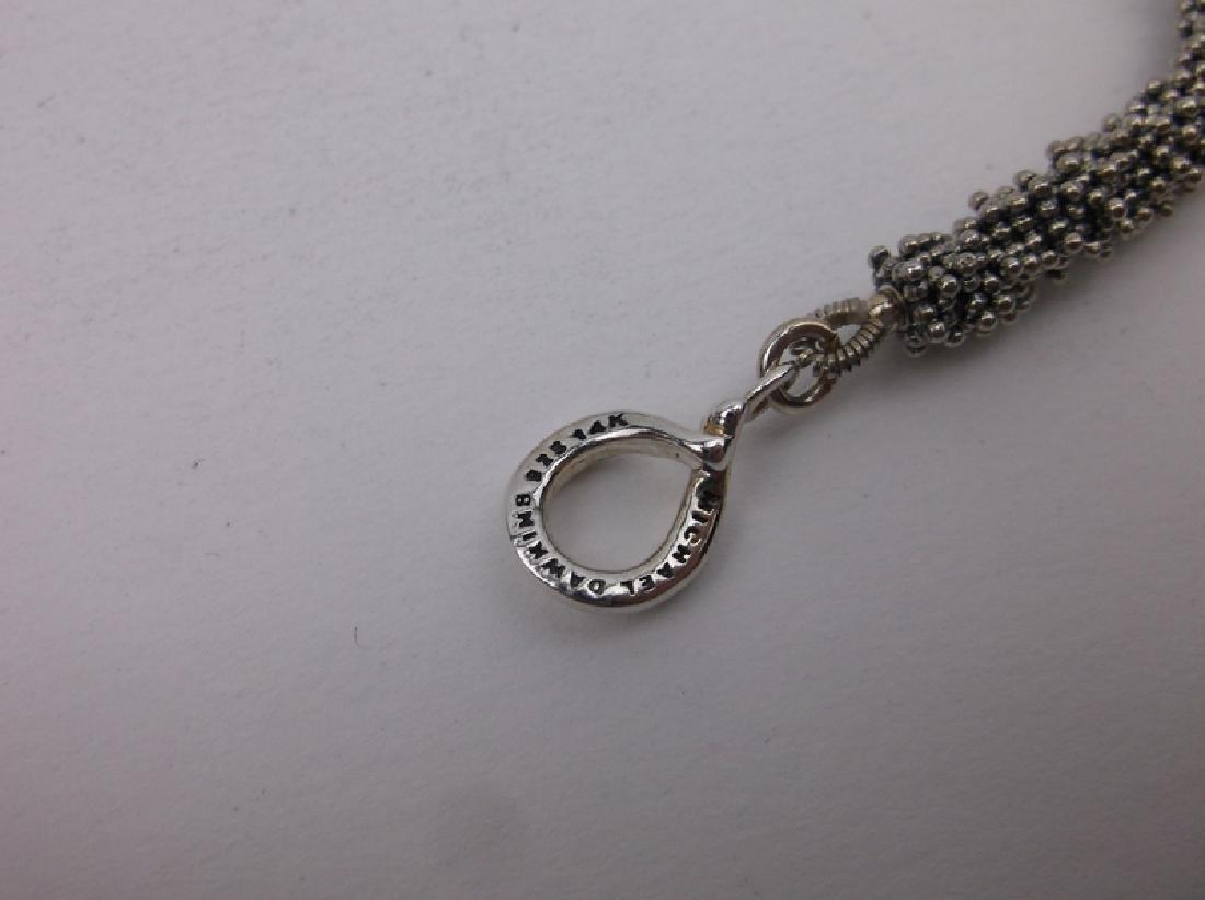 Michael Dawkins 14kt Gold Sterling Pearl Bracelet - 2